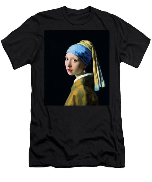 Girl With A Pearl Earring Men's T-Shirt (Slim Fit) by Jan Vermeer