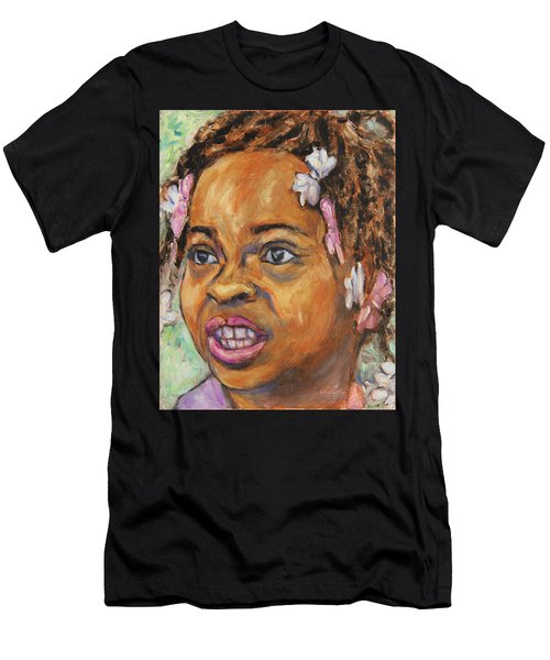 Girl With Dread Locks Men's T-Shirt (Athletic Fit)