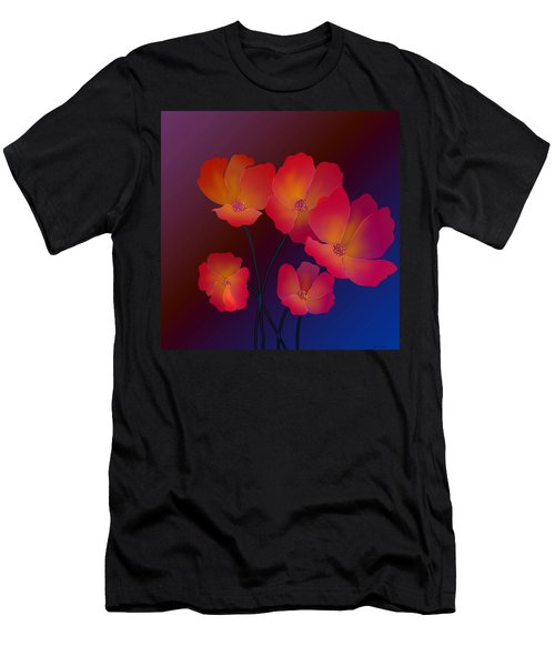 Men's T-Shirt (Slim Fit) featuring the digital art Glorious by Latha Gokuldas Panicker