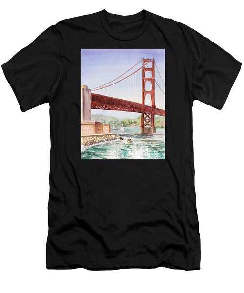 Golden Gate Bridge San Francisco Men's T-Shirt (Athletic Fit)