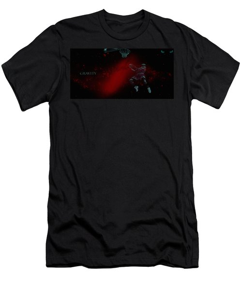 Men's T-Shirt (Slim Fit) featuring the mixed media Gravity by Brian Reaves