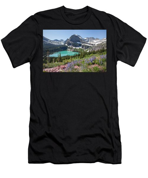 Grinnell Lake Flowers Men's T-Shirt (Athletic Fit)