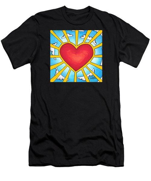 Heart Shine Men's T-Shirt (Athletic Fit)