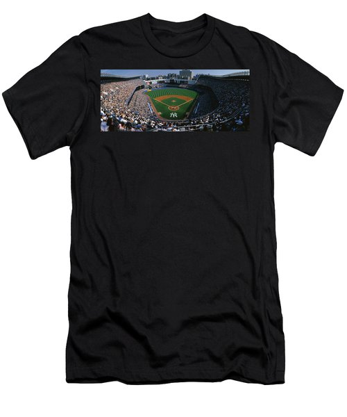 High Angle View Of A Baseball Stadium Men's T-Shirt (Athletic Fit)