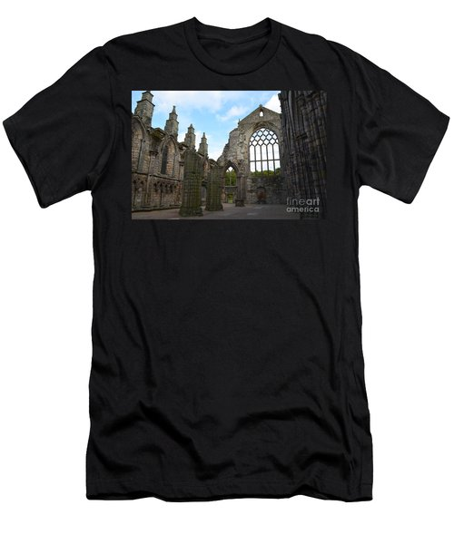 Holyrood Abbey Ruins Men's T-Shirt (Slim Fit) by DejaVu Designs