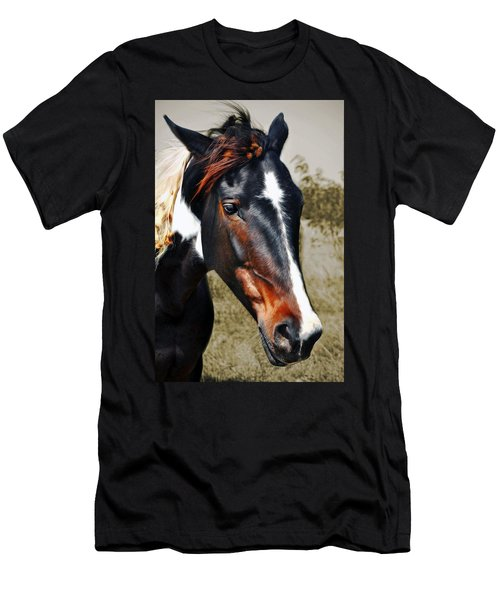 Men's T-Shirt (Slim Fit) featuring the photograph Horse by Savannah Gibbs