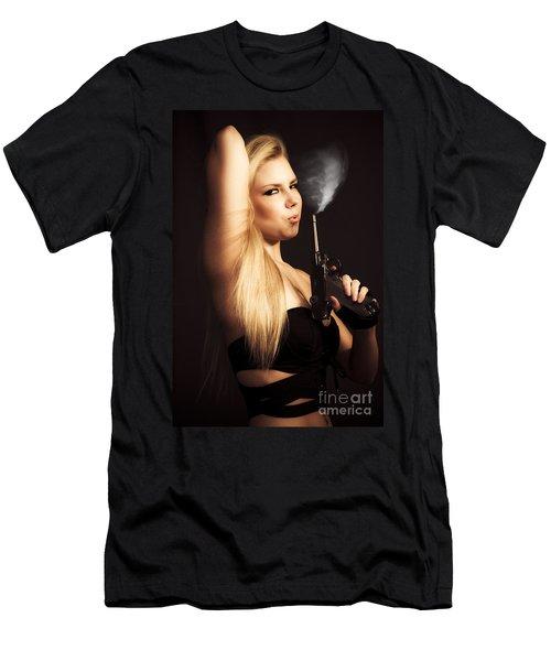 Hot Shot Woman Men's T-Shirt (Athletic Fit)