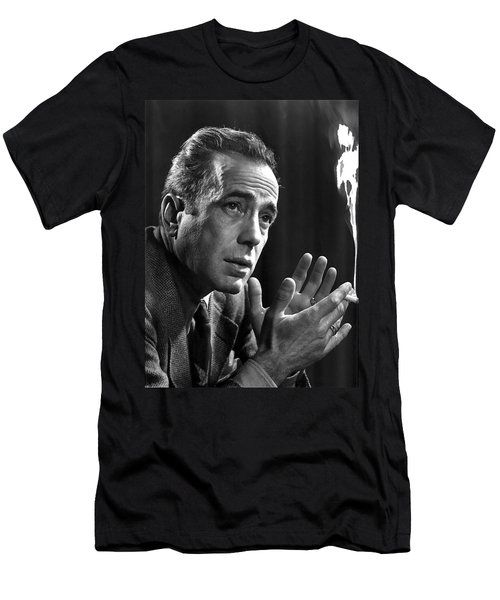 Humphrey Bogart Portrait 2 Karsh Photo Circa 1954-2014 Men's T-Shirt (Slim Fit) by David Lee Guss
