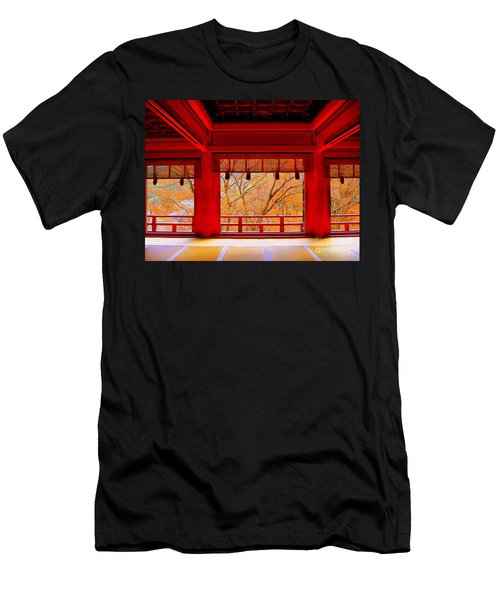 Japan Red Men's T-Shirt (Athletic Fit)