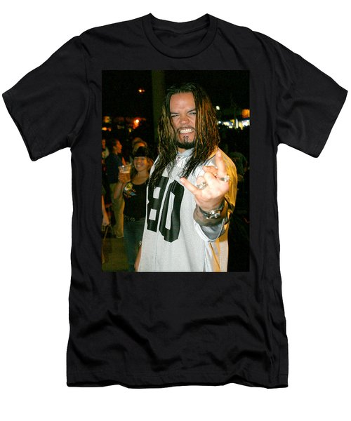 Men's T-Shirt (Slim Fit) featuring the photograph Josey Scott  Saliva by Don Olea