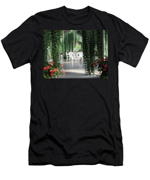 Men's T-Shirt (Slim Fit) featuring the photograph Juneau Glacier Gardens by Jennifer Wheatley Wolf