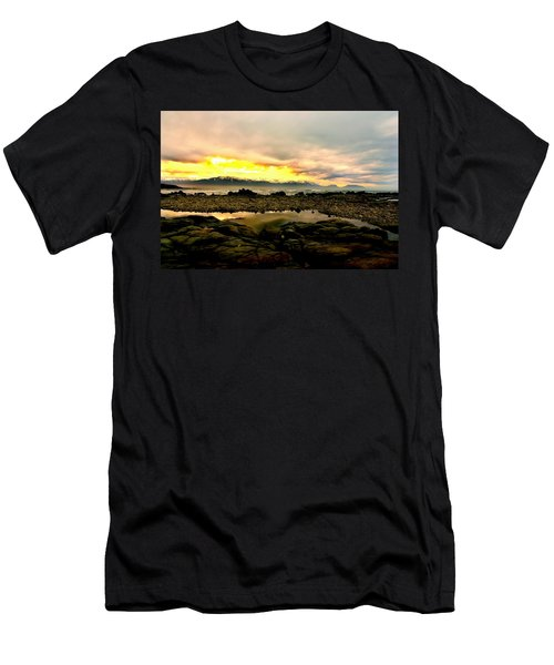 Men's T-Shirt (Slim Fit) featuring the photograph Kaikoura Coast New Zealand by Amanda Stadther