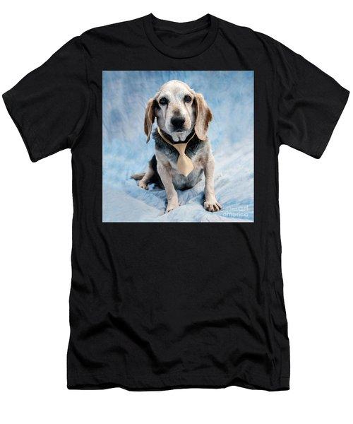 Kippy Beagle Senior Men's T-Shirt (Athletic Fit)