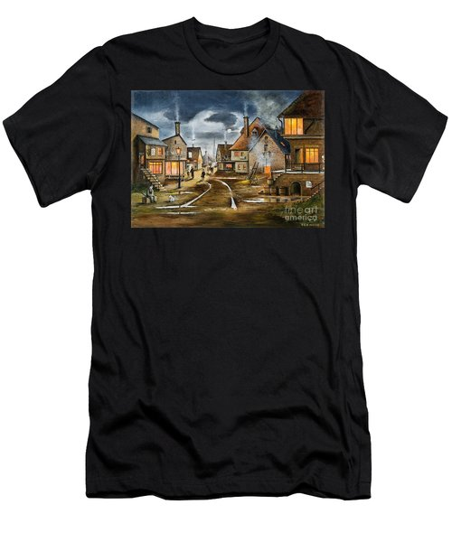 Lady At The Window Men's T-Shirt (Athletic Fit)