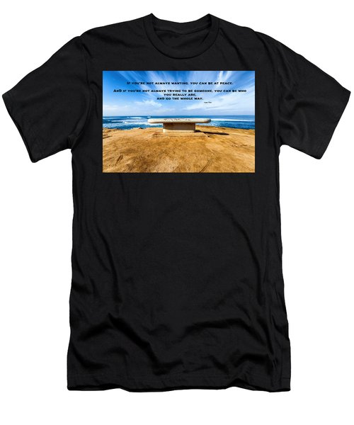 Lao Tzu Quote Men's T-Shirt (Athletic Fit)