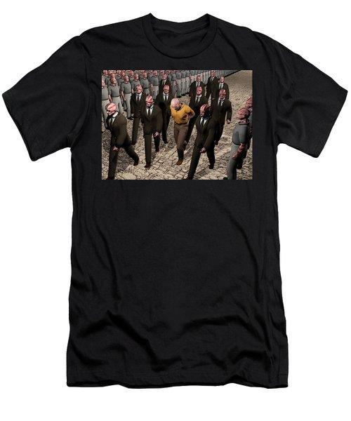 Men's T-Shirt (Slim Fit) featuring the digital art Last March Of The Non Conformist by John Alexander