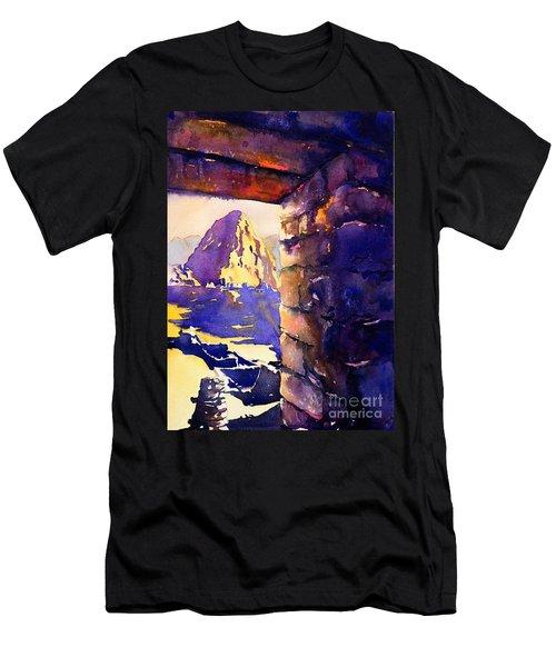 Machu Picchu Men's T-Shirt (Slim Fit) by Ryan Fox