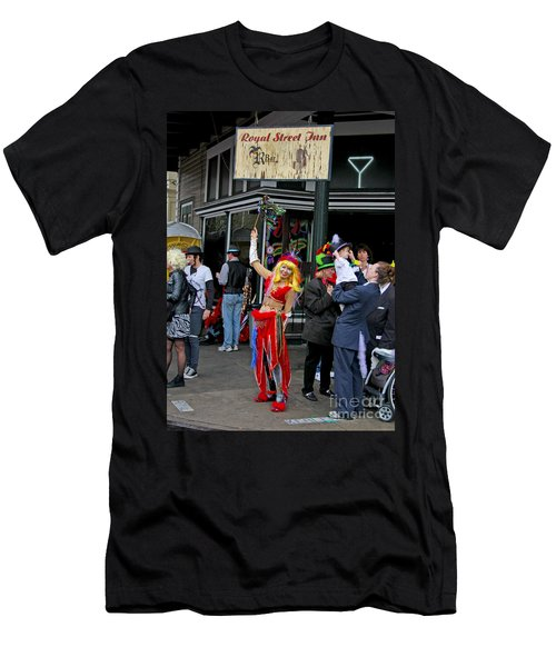 Men's T-Shirt (Slim Fit) featuring the photograph French Quarter Mardi Gras by Luana K Perez