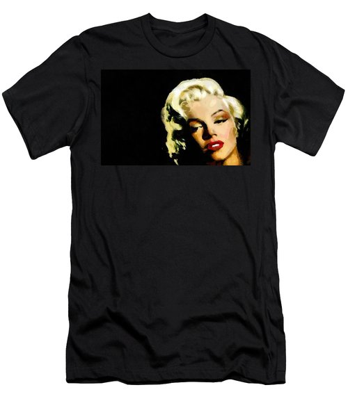 Men's T-Shirt (Slim Fit) featuring the painting Marilyn Monroe by Georgi Dimitrov