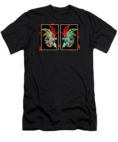 Mech Dragons Pastel Men's T-Shirt (Slim Fit)