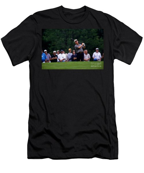 12w334 Jack Nicklaus At The Memorial Tournament Photo Men's T-Shirt (Athletic Fit)
