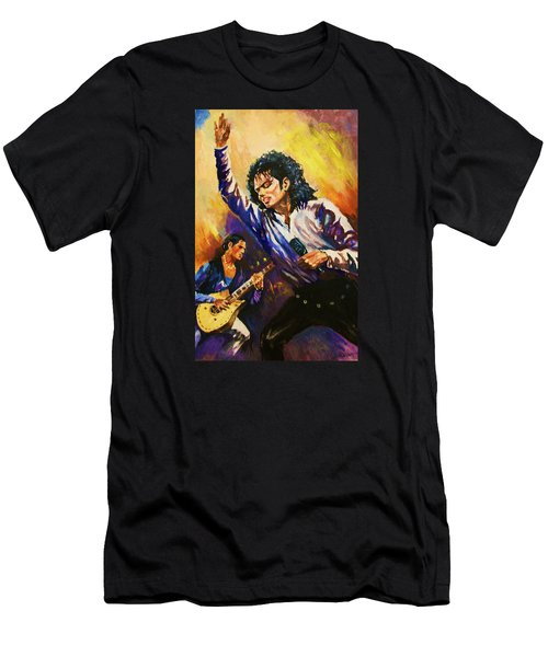 Michael Jackson In Concert Men's T-Shirt (Slim Fit) by Al Brown