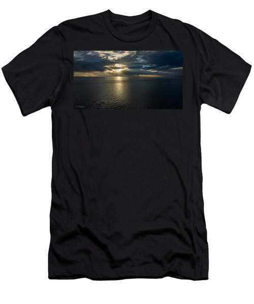 Midnight Sun Over Mount Susitna Men's T-Shirt (Athletic Fit)