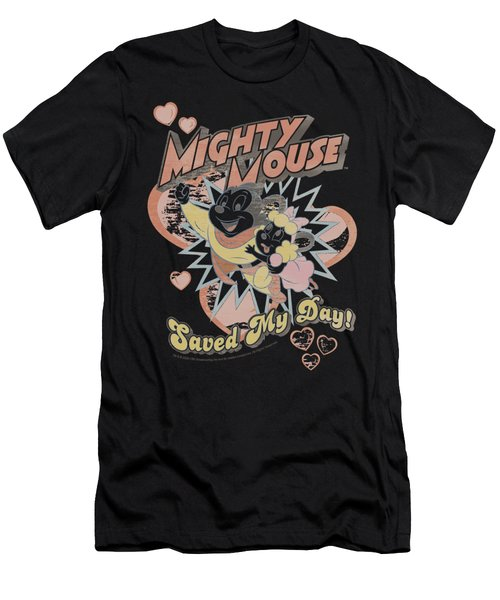 Mighty Mouse - Saved My Day Men's T-Shirt (Athletic Fit)