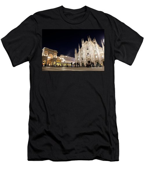 Milan Cathedral Vittorio Emanuele II Gallery Italy Men's T-Shirt (Athletic Fit)