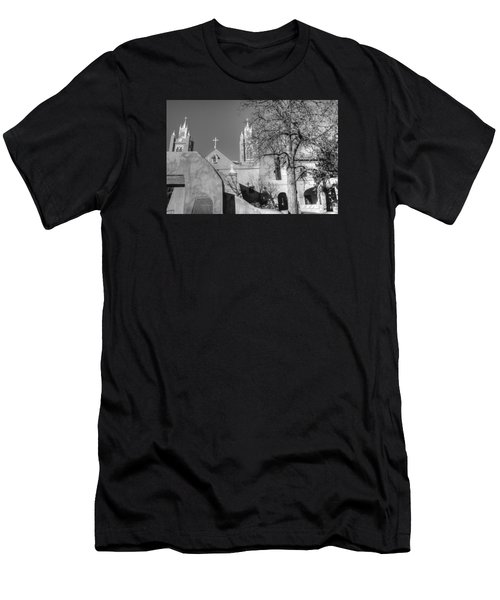 Mission In Black And White Men's T-Shirt (Athletic Fit)