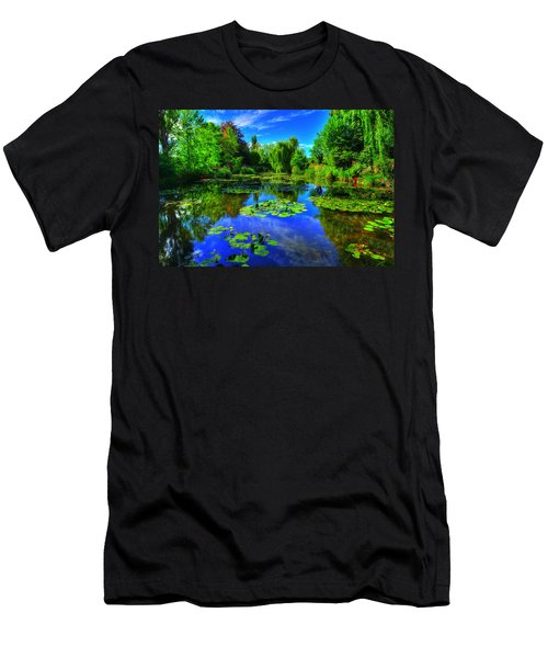 Monet's Lily Pond Men's T-Shirt (Slim Fit) by Midori Chan