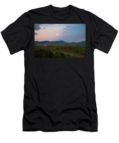 Moon Over The Hills Of Povoacao Men's T-Shirt (Athletic Fit)