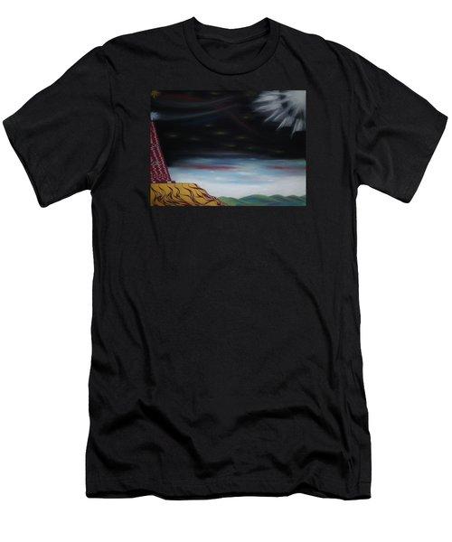 Moon Tower Men's T-Shirt (Slim Fit) by Robert Nickologianis