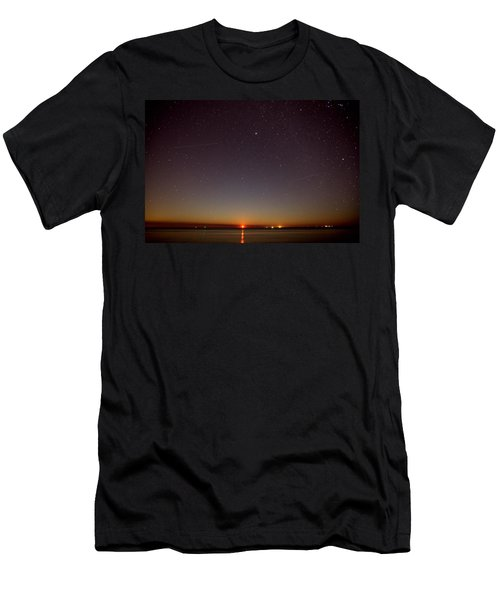 Moonrise On Tybee Island Men's T-Shirt (Athletic Fit)