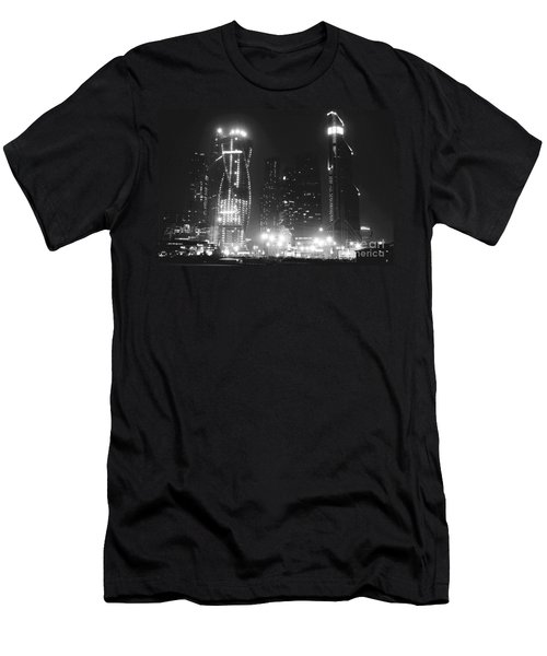 Moscow At Night  Men's T-Shirt (Athletic Fit)