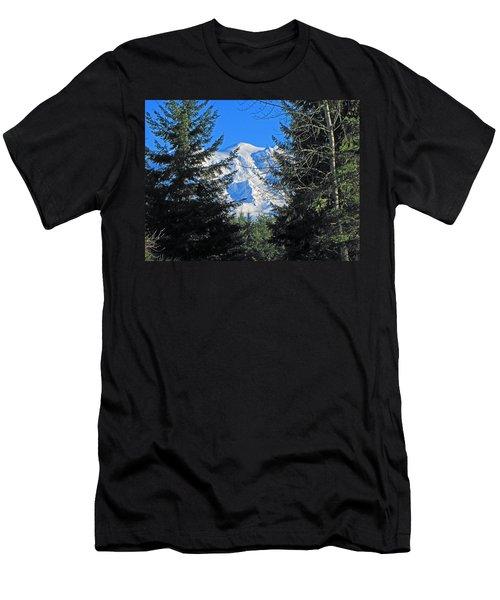 Men's T-Shirt (Slim Fit) featuring the photograph Mt. Rainier I by Tikvah's Hope