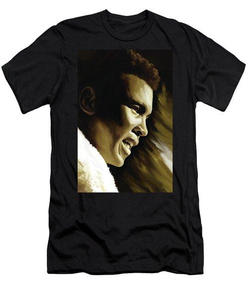 Muhammad Ali Boxing Artwork Men's T-Shirt (Athletic Fit)