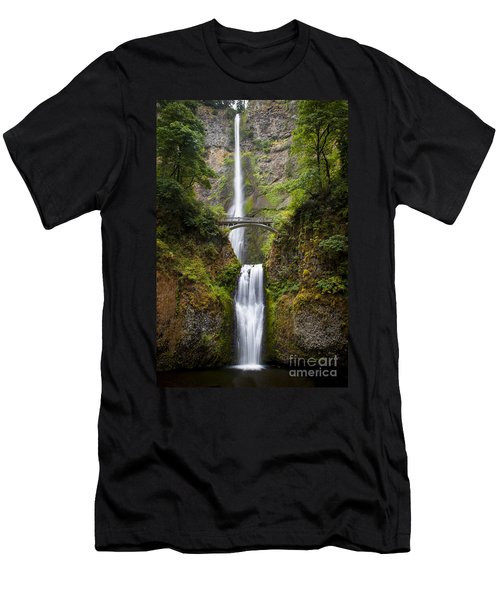 Men's T-Shirt (Athletic Fit) featuring the photograph Multnomah Falls by Brian Jannsen