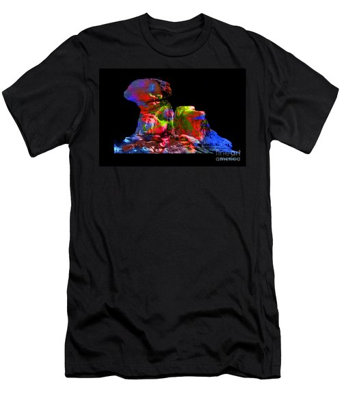Mushroom Rock Men's T-Shirt (Athletic Fit)