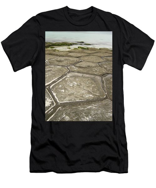 Natural Forming Pentagon Rock Formations Of Kumejima Okinawa Japan Men's T-Shirt (Athletic Fit)