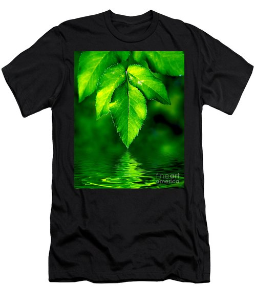 Natural Leaves Background Men's T-Shirt (Athletic Fit)