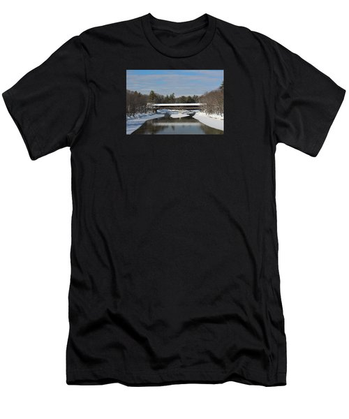 North Conway Covered Bridge  Men's T-Shirt (Athletic Fit)