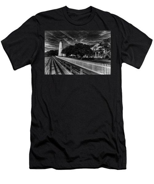 Ocracoke Lighthouse Men's T-Shirt (Slim Fit) by Tony Cooper