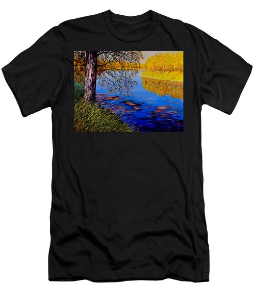 Men's T-Shirt (Slim Fit) featuring the painting October Afternoon by Sher Nasser