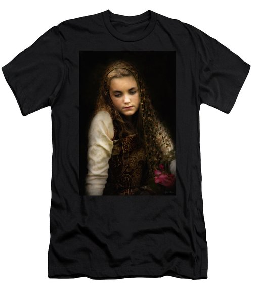 Men's T-Shirt (Slim Fit) featuring the photograph Olivia by John Rivera