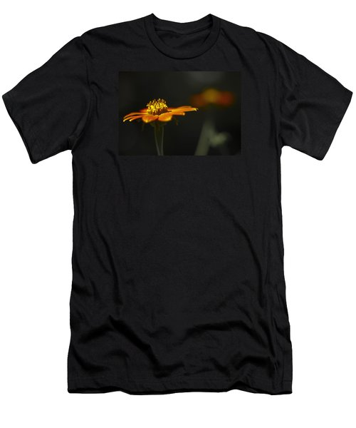 Orange Flower Men's T-Shirt (Athletic Fit)