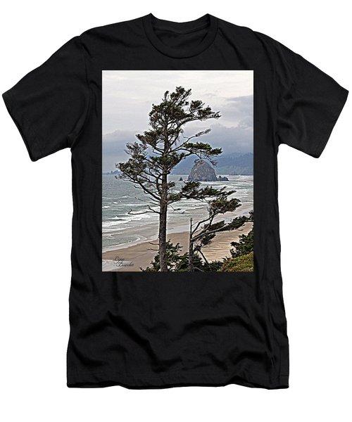 Oregon Coastline Men's T-Shirt (Athletic Fit)