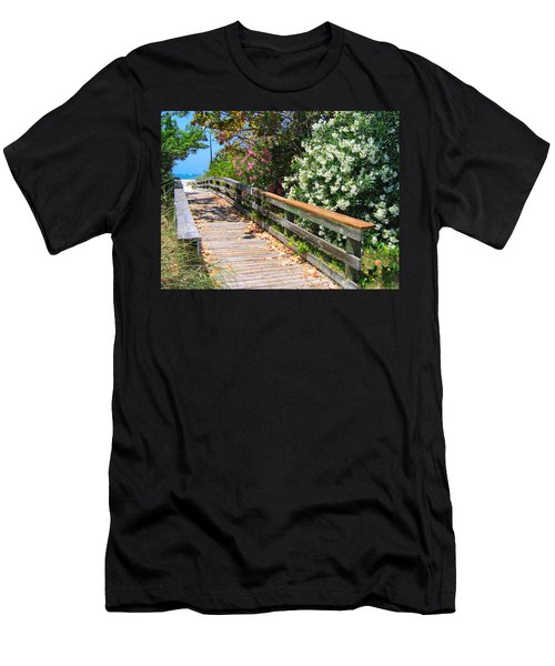 Pathway To Beach Men's T-Shirt (Athletic Fit)