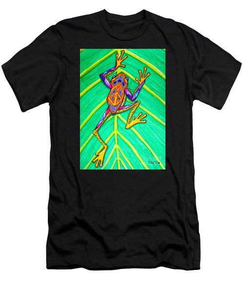 Peace Frog Men's T-Shirt (Athletic Fit)