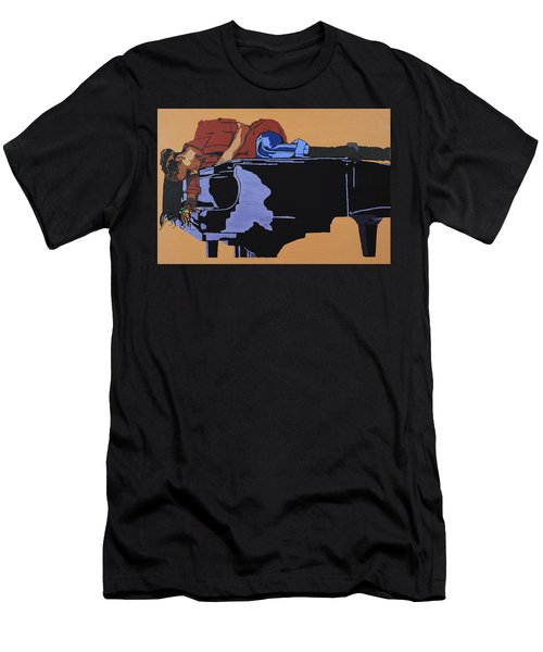 Piano And I Men's T-Shirt (Athletic Fit)